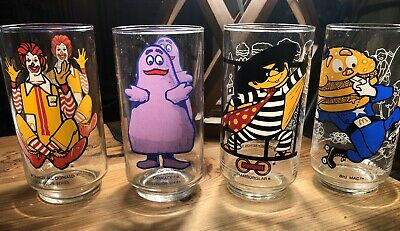 1977 Vintage Mcdonald's Collector Series Glasses  (Set Of 4)