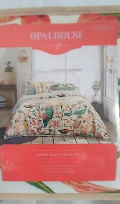 New Opalhouse Aviary Print Duvet & Pillow Sham Set   Full/Queen