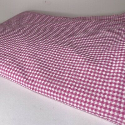 Pottery Barn Kids Reversible Pink Gingham Twin Size Duvet Cover Button Closure