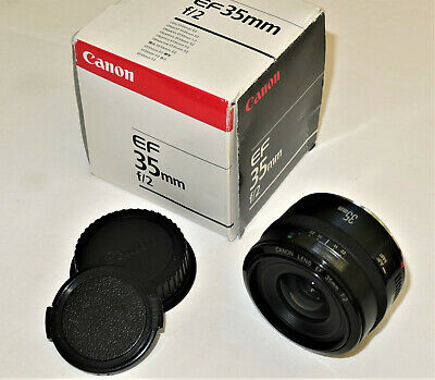 Canon EF 35mm F/2 EF Lens in good working order, boxed with both caps.