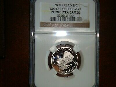 2009S Clad District of Columbia - D.C. & TERRITORIES QTR. graded PF 70 UC by NGC