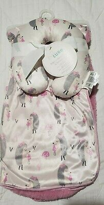 BABY BLANKET & PILLOW 2pc Set 2 sided
