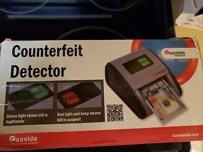 Automatic Counterfeit Bill Detector Instacheck Cash Handling Easy Read Scanner