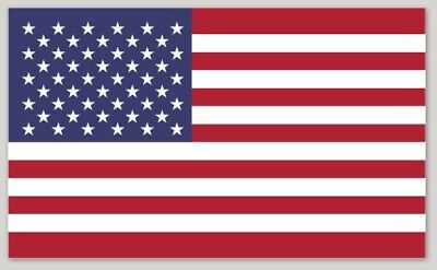 "5 pack 4"" American Flag sticker decal military patriotic USA VINYL"