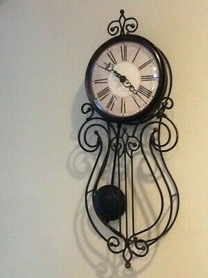 Sterling & Noble Wire Pendulum Wall Clock Antique Style