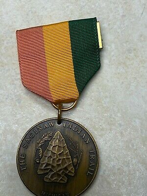Boy Scout Saginaw Indian Trail Medal