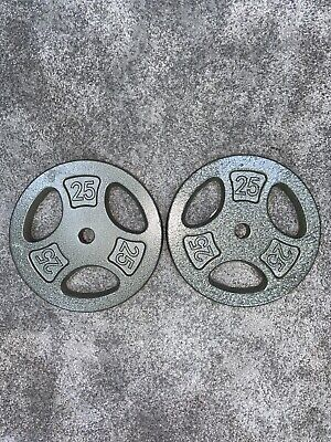 CAP 50 lb Olympic Weight Plate Set - Two 25 lb Plates Pair - FAST FREE SHIPPING