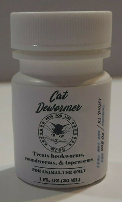 Kitten-cat Wormer Clear 3- in-1 Dewormer for Cats and Kittens, 1 oz. (30 ml)...