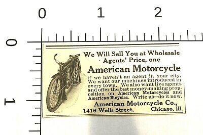1910 - AMERICAN MOTORCYCLE CO. - BICYCLES - ANTIQUE -  CHICAGO , ILL - Print Ad