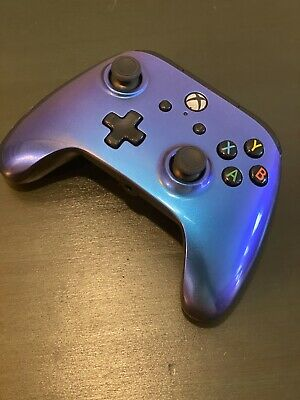 PowerA Enhanced WIRED Controller Xbox One Blue/Purple Chrome Wires Not Included