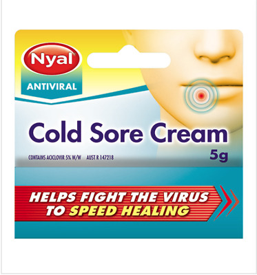 Nyal Antiviral Cold Sore Cream - 5g   New & Sealed