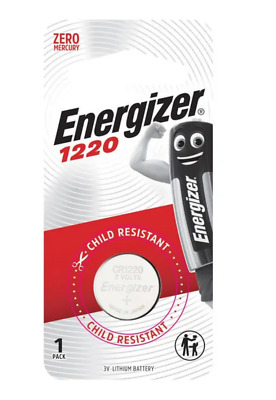 Energizer 1220 - 1 PACK 3V Lithium Coin/Button Cell Batteries  Zero Mercury