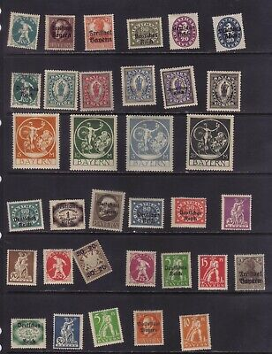 stamps  Germany   Bayern see 2 scans