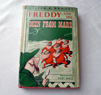~ vintage 1956 book HC/DJ ~ FREDDY and the MEN from MARS ~ Brooks/Wiese