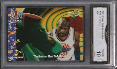 1996 Upper Deck Space Jam Michael Jordan 38 Monstars Meet MATCH GMA 10 GEM MINT