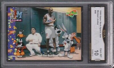 1996 UD Upper Deck Space Jam Michael Jordan 45 HALF - TIME GMA 10 GEM MINT