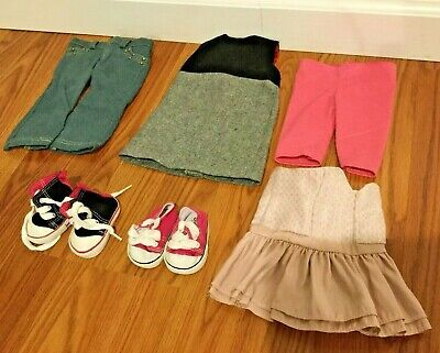 """Lot Of 18"""" Doll Clothes, Shoes Sneakers Fits American Girl OG Sophia's"""