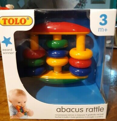 NEW TOLO Baby Rattle Abacus Rattle Teething Toy 3 months