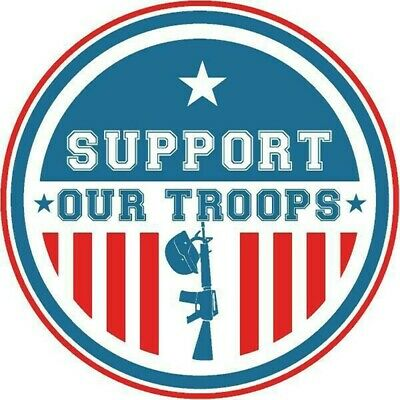 """Support Our Troops"" Sticker **FREE SHIPPING**"