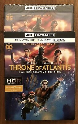 Justice League Throne of Atlantis 4K Ultra HD+BluRay+Digital BRAND NEW slipcover