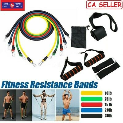 11 Pcs Fitness Pull Rope Latex Resistance Band Training Exercise Yoga Tubes Pull