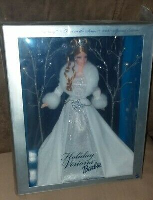 2003 Barbie Holiday Visions Winter Fantasy Special Edition Mattel in Plastic