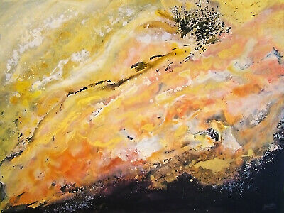 X large Original painting - Contemporary/Abstract by G.Liedtke, gold black white