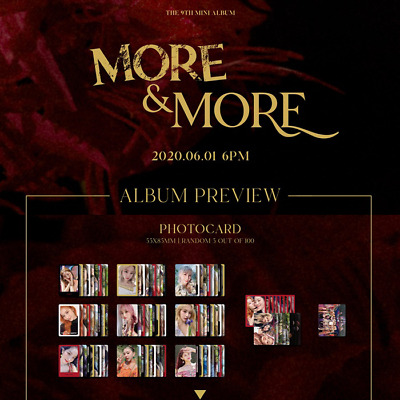 TWICE More&More 9th mini Official [PHOTO CARD]