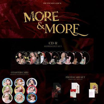 TWICE More&More 9th mini Official [CD, Coaster Card, Pre-order Photocard SET]