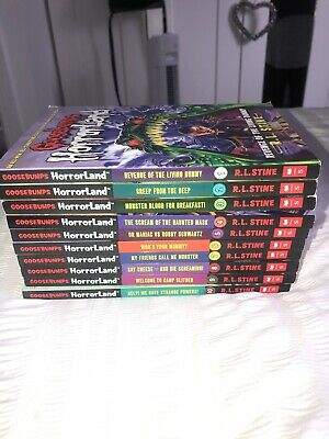 R L Stine Goosebumps Horrorland Series 10 books