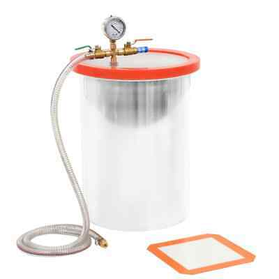 vidaXL Vacuum Chamber Stainless Steel 22.7L for Degassing Operation Accessory~