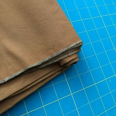 """Cotton Fabric 1.78 yard (64"""" x 43"""" W) Solid Roasted Pecan Brown"""