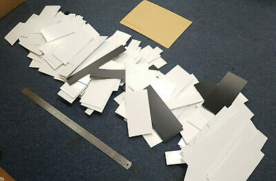 5kg off cuts 1,1.5, 2, & 3mm Thick Plasticard HIPS mostly White and some black