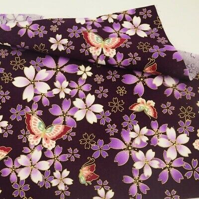 Cotton Fabric Gorgeous Flower Printed Gold Foil Sewing Tissue Home Textile Craft