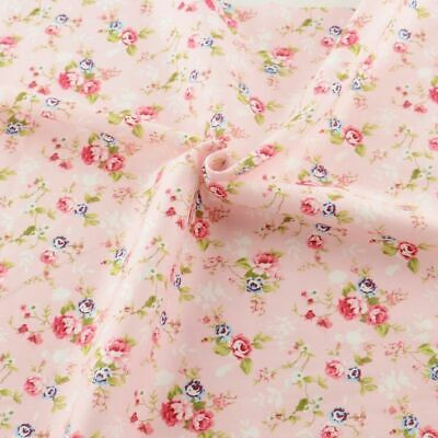 Cotton Fabric Pink Floral Printed Patterns Quilting Home Textile Bedding Crafts