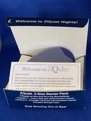 ZQuiet, Anti-Snoring Device, 2-Size Mouthpieces, Starter Pack, Sleeping Well