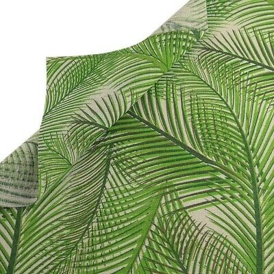 Cotton Fabric Green Plant Sewing Cloth Tissu Tablecloth Pillow Bag Curtain Craft