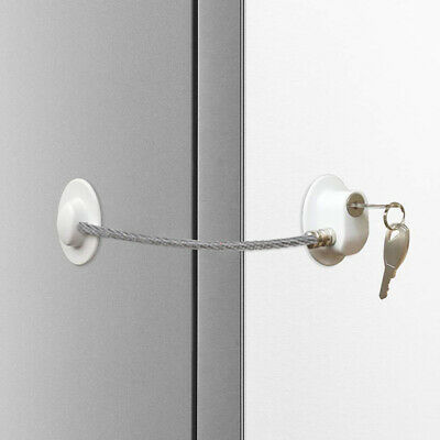 Child Safety Lock Window Kids Security Refrigerator Door Lock Limit with Key IT