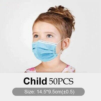 10/50pcs kids face mask disposable Children Protective Mouth Cover Non medical