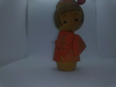 KOKESHI Japanese Doll vintage antique wooden used 6 inch