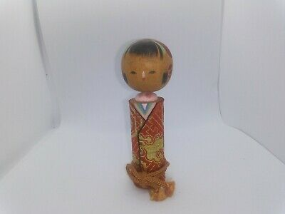KOKESHI Japanese Doll vintage antique Japan wooden used 4inch