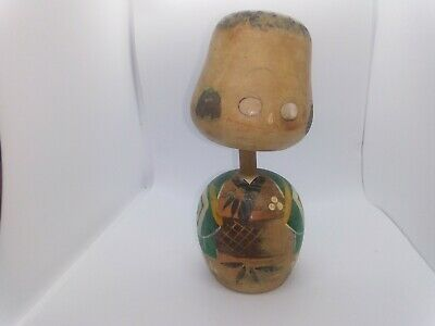 KOKESHI Japanese Doll vintage antique Japan  wooden used 6 inch