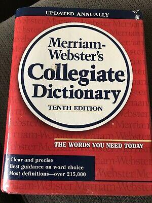 Merriam-Webster's Collegiate Dictionary ~ Tenth Edition ~ Thumb-Indexed