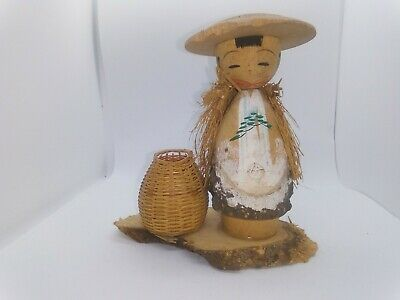 KOKESHI Japanese Doll vintage antique Japan wooden used 5 inch