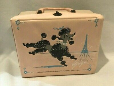 Aladdin Industries Vinyl LUNCH BOX Gigi French Poodle Vintage 1960s USA