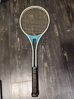 Vintage Blue And Silver Tennis Racquet Standard 4 1/4 L