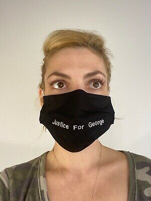 Justice for George Floyd face Mask Handmade Washable Reusable wire nose Reuse