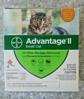 Genuine Bayer Advantage Ii Flea Control For Cats 5 To 9 Lbs - New 4 Pack