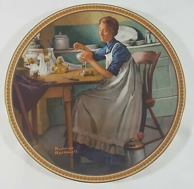 Norman Rockwell Collector Plate: Working In The Kitchen #120 D 1983 MINT