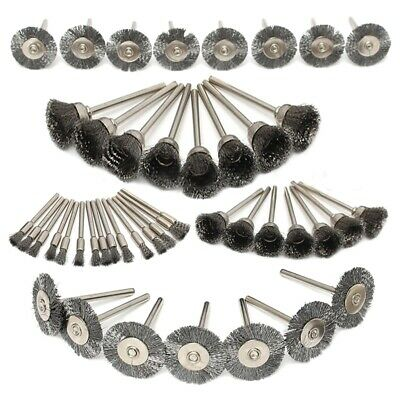 45Pc Steel Wire Wheel Pen Cup Brushes Set Kit Accessories for Rotary Tool Z6W2